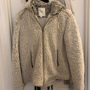 Fuzzy zip up jacket